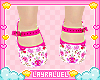 Kids Flowery Pink Shoes