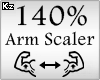 Scaler Arm 140%
