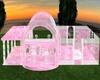 Pink White Glass Sunset