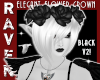 BLACK FLOWER CROWN V2!