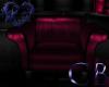 Moon lite Magenta Chair