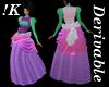 !K! Delure Bustle Gown