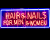 salon sign neon