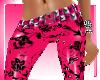 PvC HotPink Fleur pants