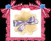 Flor y ribbon satinado.