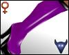 PVC boots purple (f)