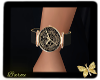 Gold skull watch