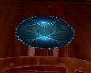 blue ball room rug