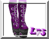 Purple Glam Paw Boots