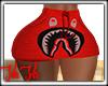 Bape Mini Skirt Red RLL