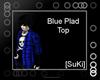 [SuKi]Plad Tee-blue-