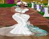 Teal Wedding Dress