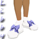 blue bow doll shoes
