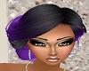 Purple Black Roll HAIR