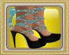 (AL)Leopard Heels Blue