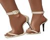 Cream Ankle Strap Shoe