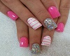 Pink Multicolor Nails