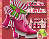 ! FLORA Pink DOLL Boots