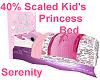 40% Kids Princess Bed