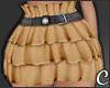 !© Ruffled Skirt Camel