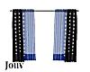 Black & Blue Curtains