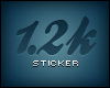 !F 1.2k Sticker