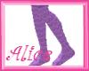 ~A~ Purple heart Socks