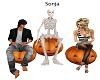 3 pumpkins Chairs