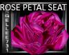 ROSE SEAT pink satin