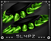 !!S Spike Cuff Set Toxic