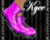 Purple DM Ankle Boots