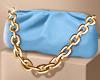 Blue Chain Pouch