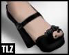 [TLZ] blk gry rose heels