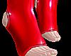 B! red pvc socks male