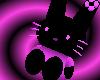 Black/ Pinkypurple Bunny