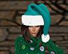 Turquoise Santa Hat F