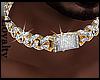 Icy Gld Diamond Choker