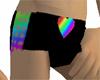 Rainbow Heart Mesh Short