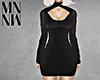 Cutout Knit Dress Black