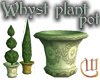 Whyst marble plant pot