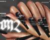 EXTRA Long Black Nails