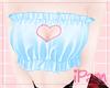 p. heart blue top