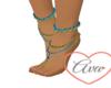 Feet Jewels Blue/Gold