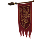Wizard Broom Banner Red