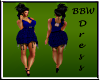 BBW Blue Fringe Dress