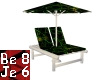 Green Rays Chaise Lounge