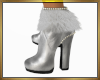 Silver White Boots