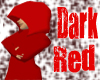 dark red hooded robw
