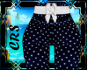 L dotted bow pants
