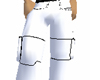 White/black Cargo Pants